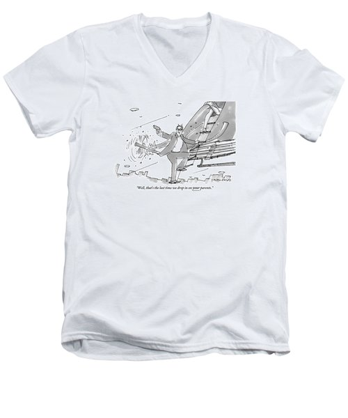 Above A City Men's V-Neck T-Shirt