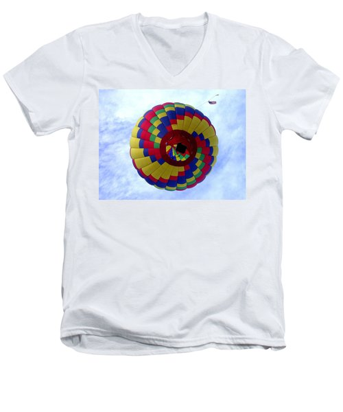 Men's V-Neck T-Shirt featuring the photograph Above And Beyond by Shane Bechler
