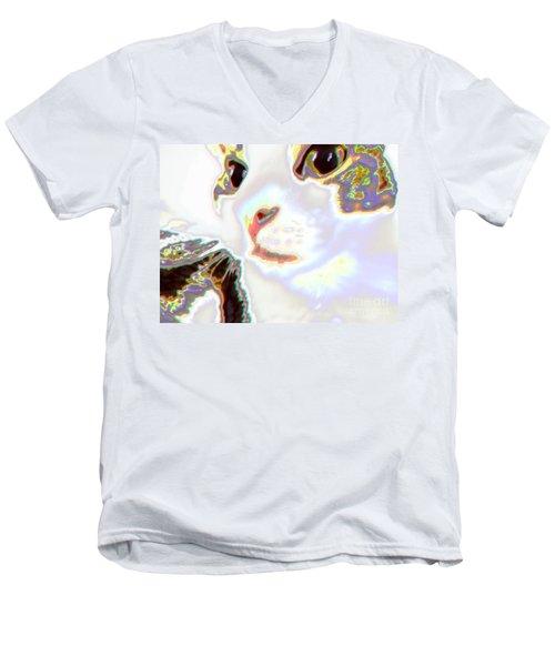 Abstract Cat - Digital Art Men's V-Neck T-Shirt