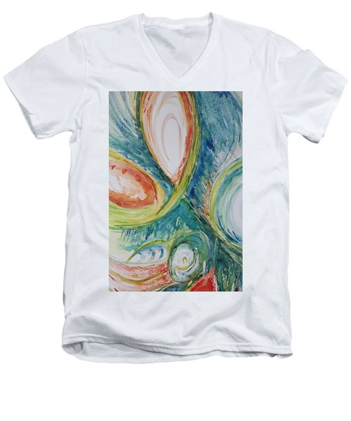 Abstract Chaos Men's V-Neck T-Shirt