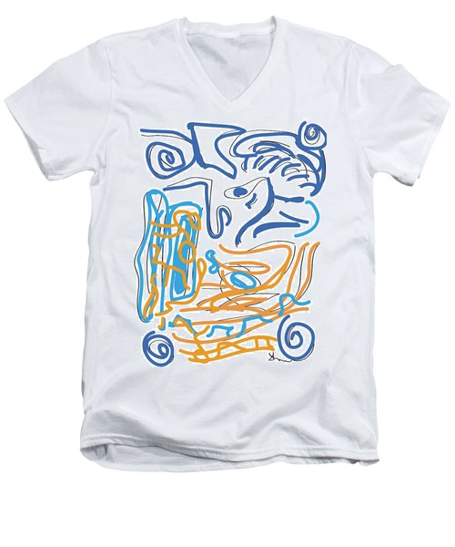 Abstract Digital Men's V-Neck T-Shirt