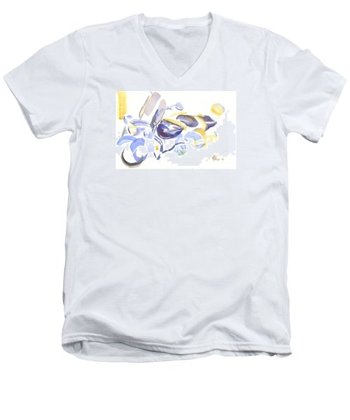 Abstract Motorcycle Men's V-Neck T-Shirt by Kip DeVore