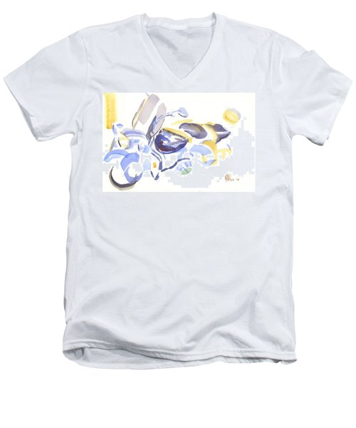 Abstract Motorcycle Men's V-Neck T-Shirt