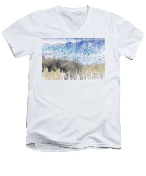 Abstract Marsh  Men's V-Neck T-Shirt