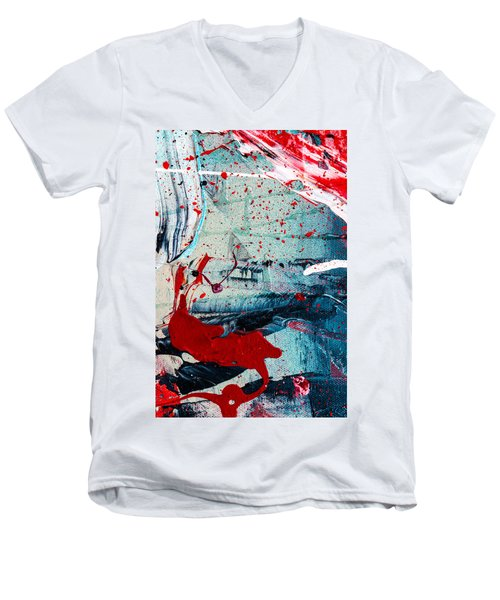 Abstract Original Artwork One Hundred Phoenixes Untitled Number Six Men's V-Neck T-Shirt