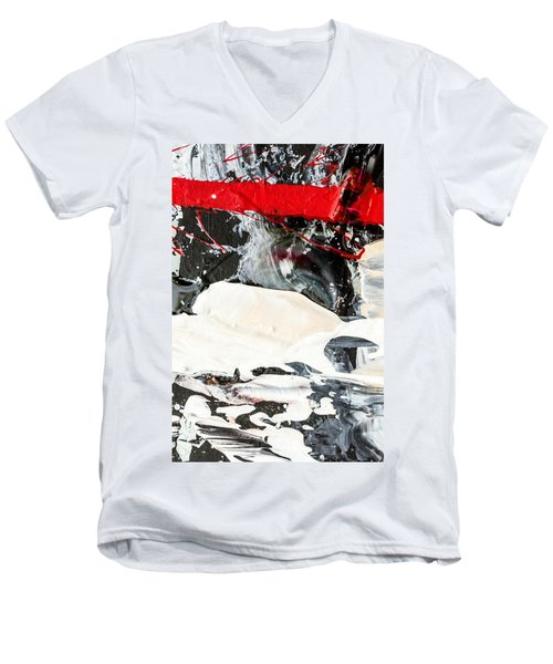 Abstract Original Painting Number Three Men's V-Neck T-Shirt