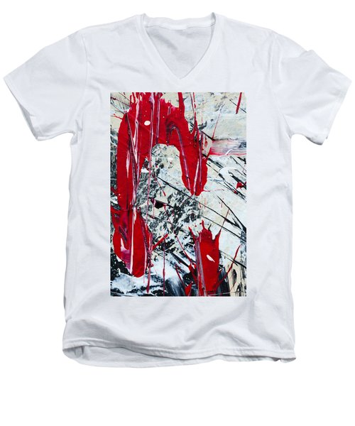 Abstract Original Painting Untitled Nine Men's V-Neck T-Shirt