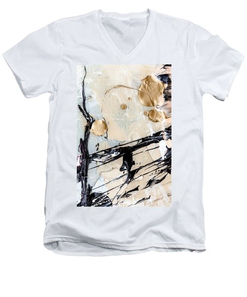 Abstract Original Painting Untitled Twelve Men's V-Neck T-Shirt