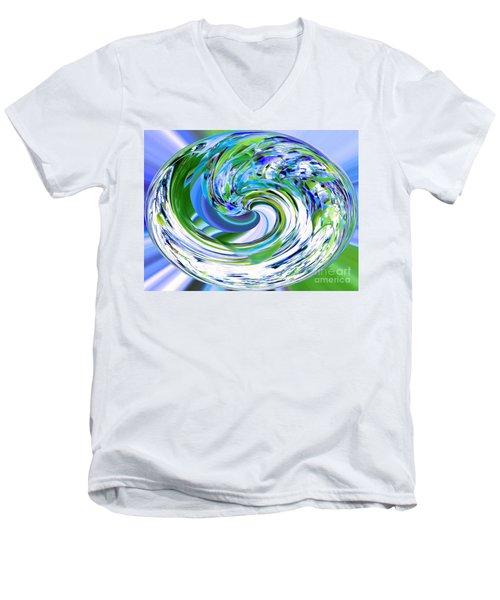 Abstract Reflections Digital Art #3 Men's V-Neck T-Shirt