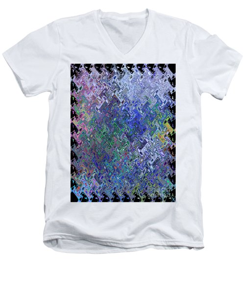 Abstract Reflections Men's V-Neck T-Shirt