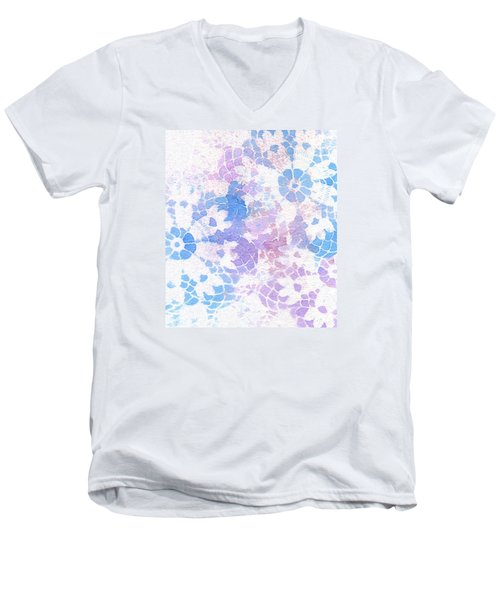 Abstract Vintage Lace Men's V-Neck T-Shirt