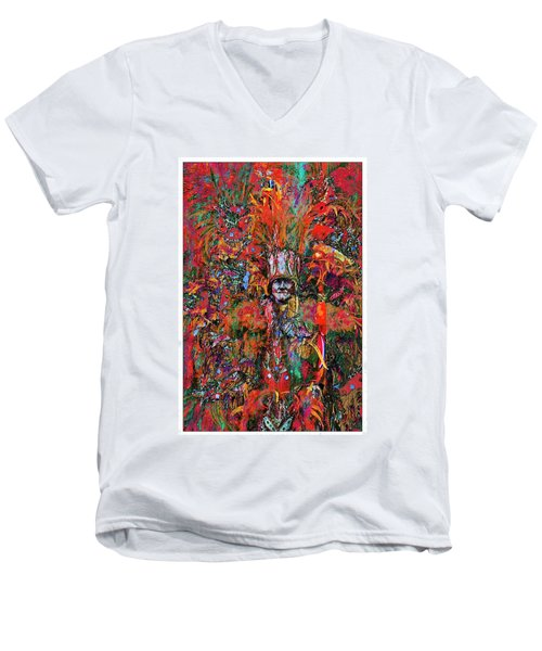 Men's V-Neck T-Shirt featuring the photograph Abstracted Mummer by Alice Gipson