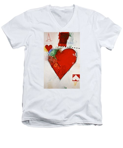 Ace Of Hearts 8-52 Men's V-Neck T-Shirt