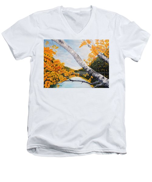 Adirondacks New York Men's V-Neck T-Shirt
