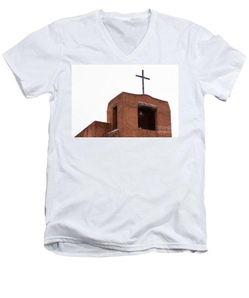 Adobe Steeple Men's V-Neck T-Shirt