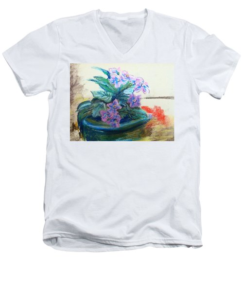 African Violet Men's V-Neck T-Shirt