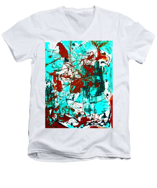 After Pollock Men's V-Neck T-Shirt
