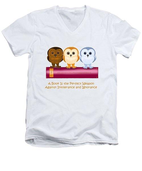 Against Ignorance Men's V-Neck T-Shirt by Leena Pekkalainen
