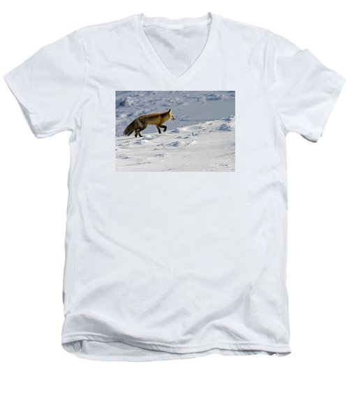 Men's V-Neck T-Shirt featuring the photograph Against The Glare-signed by J L Woody Wooden