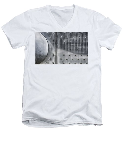 Aircraft Aluminum Two Men's V-Neck T-Shirt by Gary Warnimont
