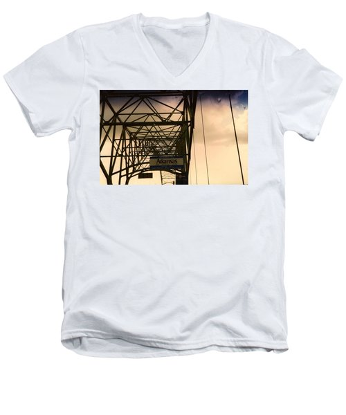 Men's V-Neck T-Shirt featuring the photograph Akansas Here We Come by Amazing Photographs AKA Christian Wilson