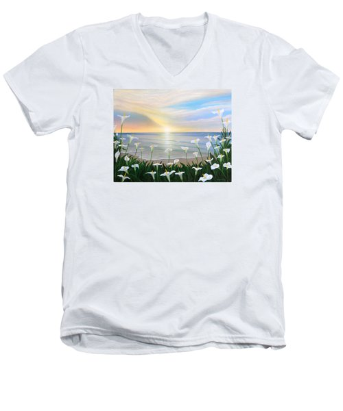 Alcatraces Men's V-Neck T-Shirt by Angel Ortiz