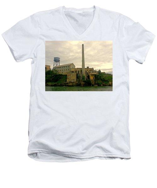 Alcatraz From The West Men's V-Neck T-Shirt