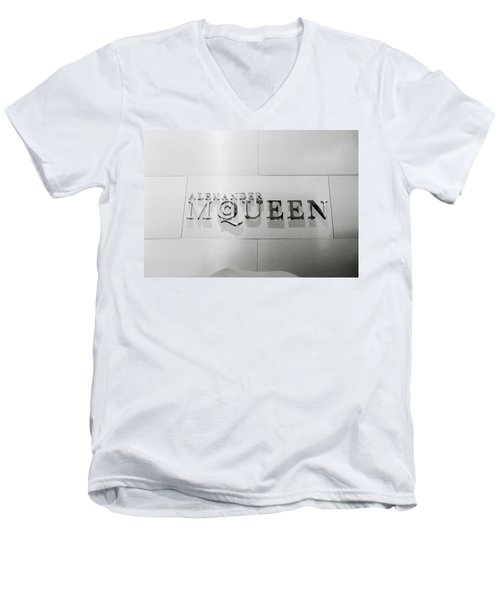 Alexander Mcqueen Men's V-Neck T-Shirt