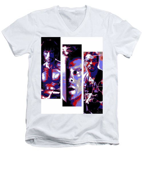 All-american 80's Action Movies Men's V-Neck T-Shirt