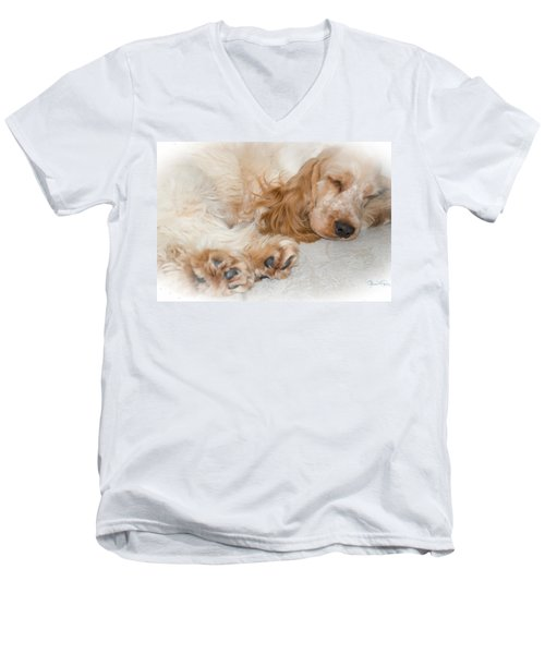 All Feet And Ears Men's V-Neck T-Shirt by Susan Molnar