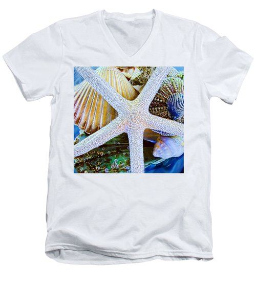 All The Colors Of The Sea Men's V-Neck T-Shirt by Colleen Kammerer