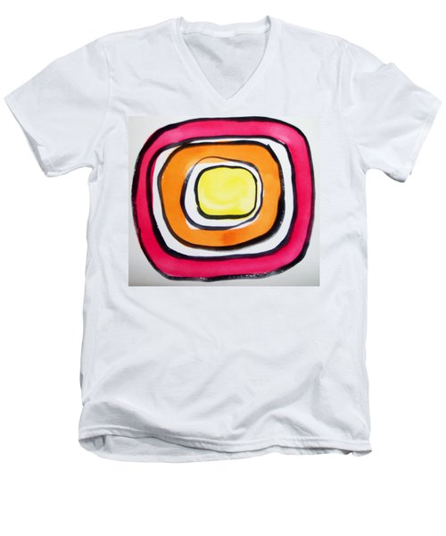 Almost Circles Men's V-Neck T-Shirt by Erika Chamberlin