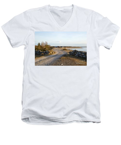 Along The Coast Men's V-Neck T-Shirt by Kennerth and Birgitta Kullman