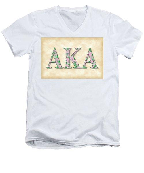 Alpha Kappa Alpha - Parchment Men's V-Neck T-Shirt