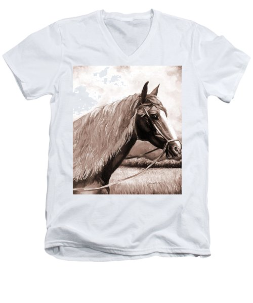 American Beauty Antique Men's V-Neck T-Shirt