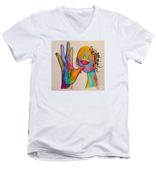 American Sign Language . . .  Mother Men's V-Neck T-Shirt