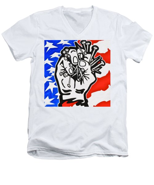 The Price Of Liberty Men's V-Neck T-Shirt by Yelena Tylkina
