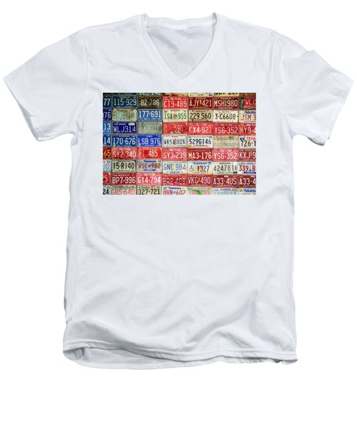 Men's V-Neck T-Shirt featuring the photograph American Transportation by Steven Bateson