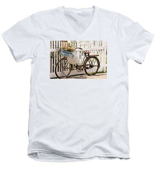Americana Men's V-Neck T-Shirt by Art Block Collections