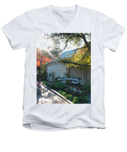 The Show Must Go On - Oregon Shakespeare Festival Theatre - Images From Ashland Oregon  Men's V-Neck T-Shirt