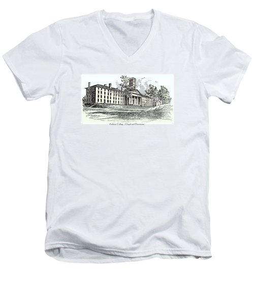 Amherst College - Chapel And Dormitories Men's V-Neck T-Shirt