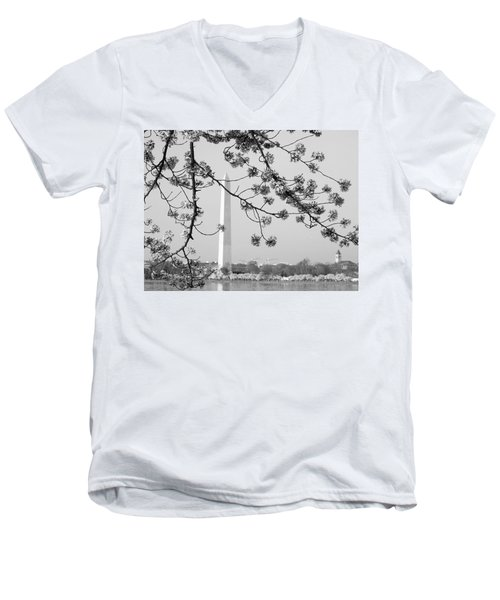 Amongst The Cherry Blossoms Men's V-Neck T-Shirt