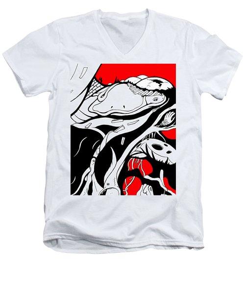 Amphibious Men's V-Neck T-Shirt