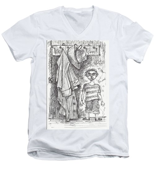 An Apartment Goblin Men's V-Neck T-Shirt by Maxim Komissarchik