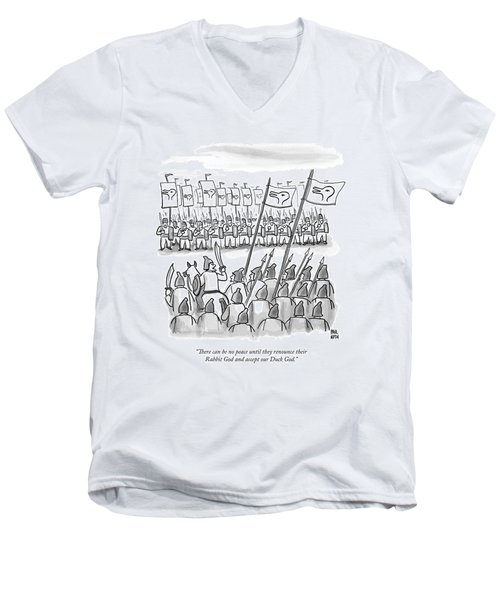 An Army Lines Up For Battle Men's V-Neck T-Shirt