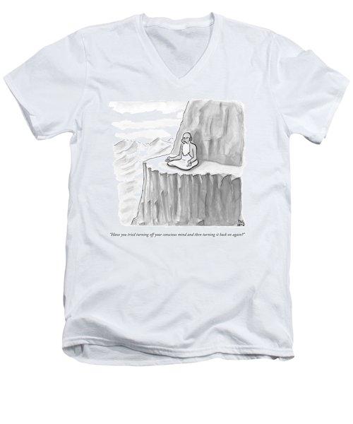 An Old Man Gives Metaphysical Advice Men's V-Neck T-Shirt