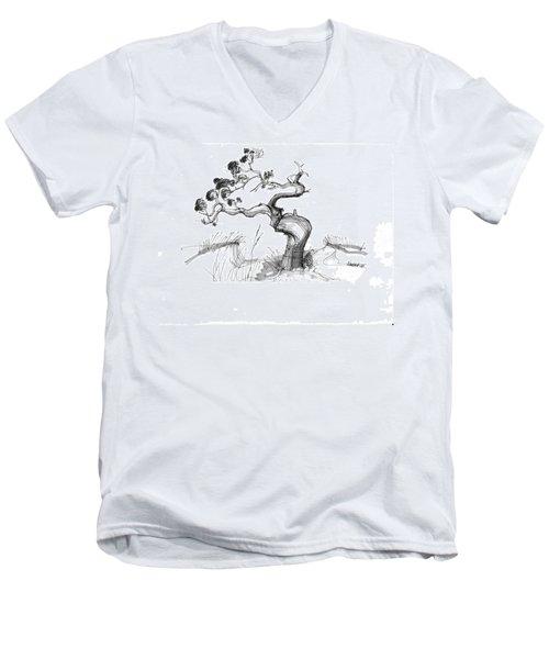 Ancient Loblolly Pine Ocracoke Nc 1970s Men's V-Neck T-Shirt