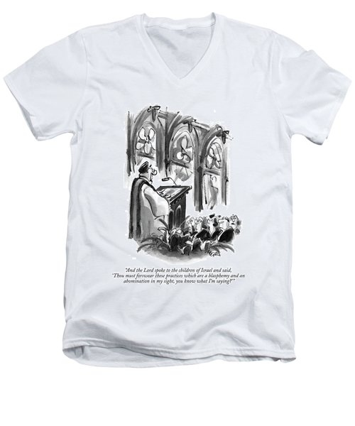 And The Lord Spoke To The Children Of Israel Men's V-Neck T-Shirt
