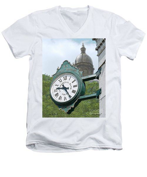 And The Time Is Men's V-Neck T-Shirt