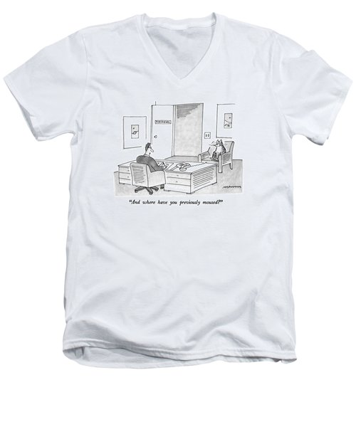 And Where Have You Previously Moused? Men's V-Neck T-Shirt